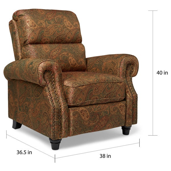 ProLounger Paisley Push Back Recliner Chair - Free Shipping Today -  Overstock.com - 17668400 - ProLounger Paisley Push Back Recliner Chair - Free Shipping Today