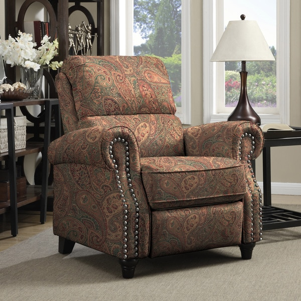 Prolounger Paisley Push Back Recliner Chair Multi Colored