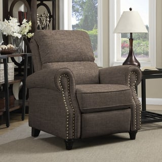 living room recliner chairs. ProLounger Brown Linen Push Back Recliner Chair Recliners For Less  Overstock com