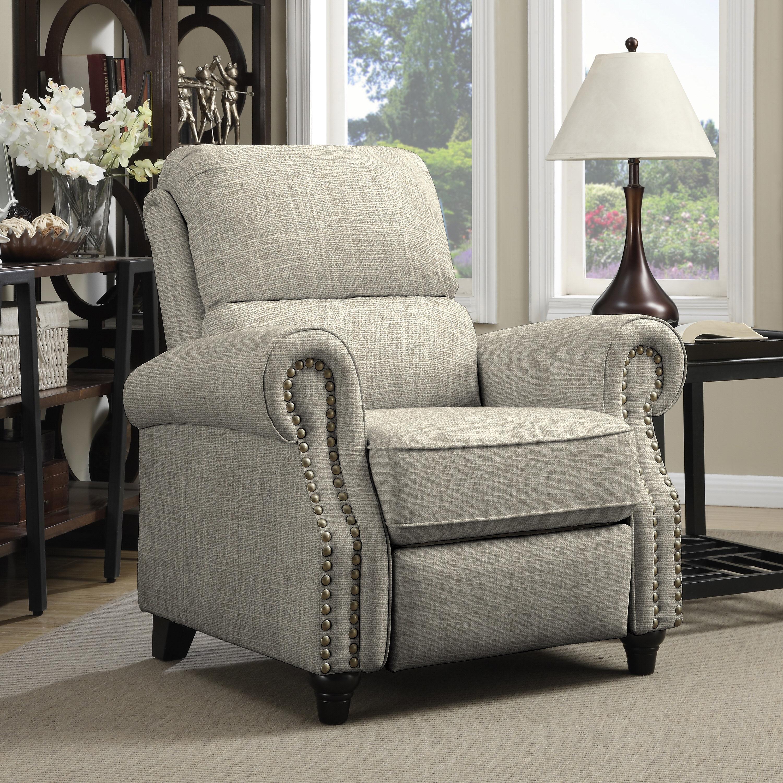 ProLounger Barley Tan Linen Push Back Recliner Chair