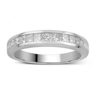 Divina 14k Gold 3/4ct TDW Princess-Cut Diamond Channel Set Wedding Band (More options available)