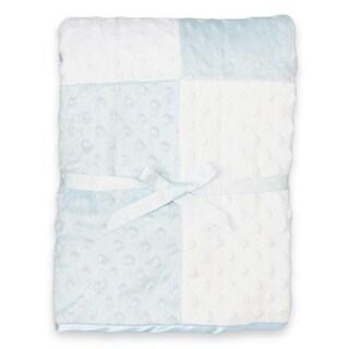 Spasilk Minky Raised Dot Blanket with Satin Trim
