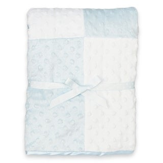 Spasilk Minky Raised Dot Blanket with Satin Trim (4 options available)
