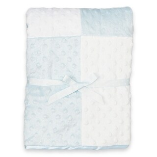 Spasilk Minky Raised Dot Blanket with Satin Trim
