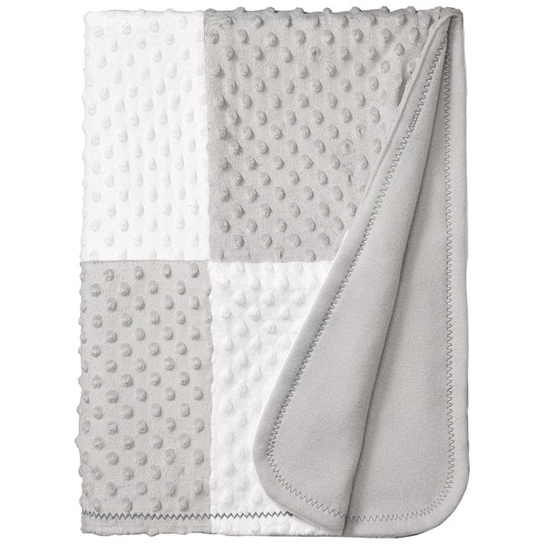 Precious Moments Baby Blanket Soft and Comfy Fleece 30 inches x 40 inches Grey