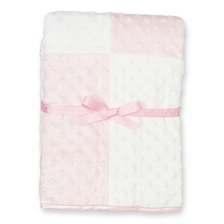 Spasilk Minky Raised Dot Blanket with Satin Trim (Option: Pink)
