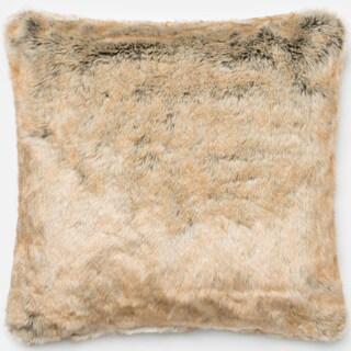 Faux-fur Beige Throw Pillow or Pillow Cover 22 x 22