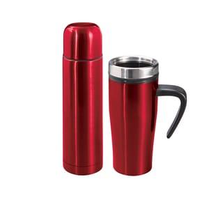 Sharper Image 2 Piece Thermal Mug & Flask Set