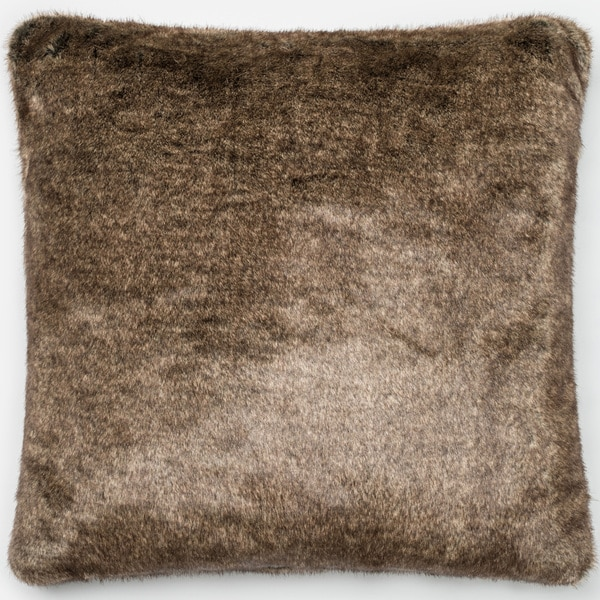 Shop Faux Fur Light Brown 22 Inch Throw Pillow Or Pillow
