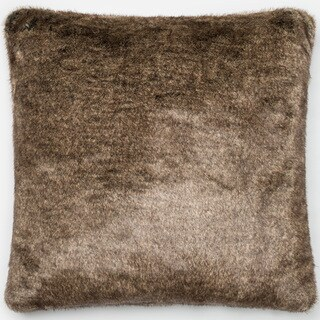 Faux Fur Light Brown Throw Pillow or Pillow Cover 22 x 22