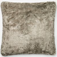 Faux Fur Grey Down Feather or Polyester Filled 22-inch Throw Pillow or Pillow Cover