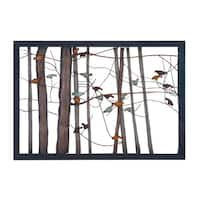 Birds on Branches Metal Tree Trunk Sculpture