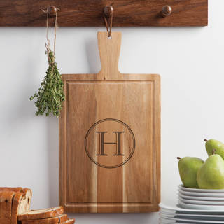 Circle Initial Personalized Carving Board