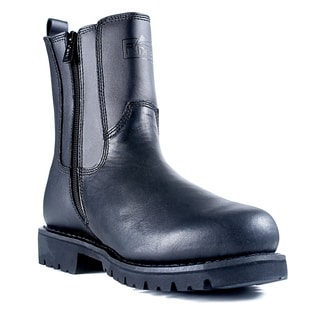 All Leather Side Zip Black Boots