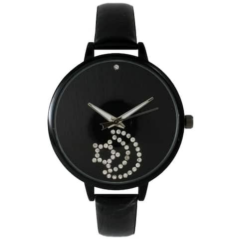 Olivia Pratt Women's Sleek Sparkly Moon and Star Watch