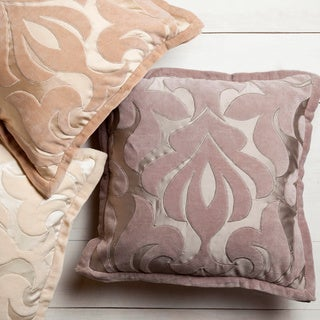Decorative 22-inch Goldie Damask Pillow