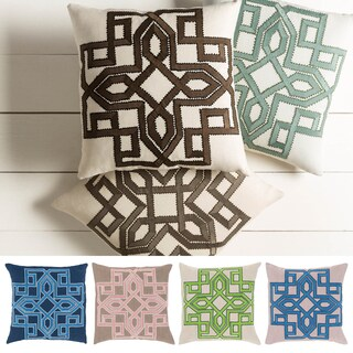 Decorative 22-inch Garcia Geometric Pillow (2 options available)