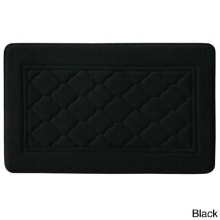"Microban Florence Memory Foam 20x32"" Bath Rug (Option: Black)"