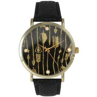 Olivia Pratt Women's Decorative Arrow Print Watch