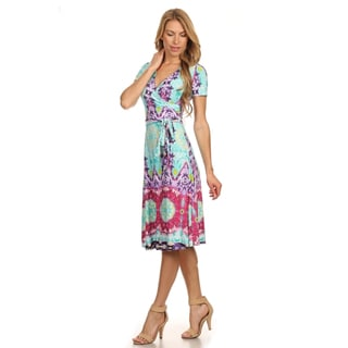 MOA Collection Women's Plus Size Tribal Print Dress