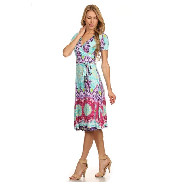 Shop MOA Collection Women\'s Plus Size Tribal Print Dress ...