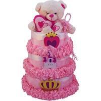 My Little Princess Newborn Baby Girl Diaper Cake Gift Tower