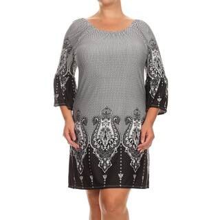 MOA Collection Women's Plus Size Short Tunic Dress