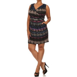 MOA Collection Women's Plus Size Short Dress with Pockets