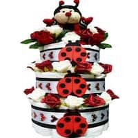 Love Bug Baby Girl Diaper Cake Gift Tower
