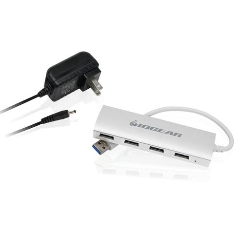 IOGEAR met(AL) P4P Hub, 4-Port USB 3.0 Powered Hub with Aluminum Chassis