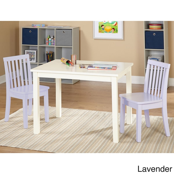 Simple Living 3 piece Alice Kids Table and Chair Set Free