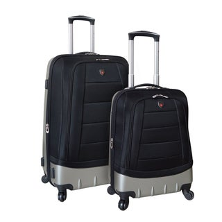 Traveler's Club Valencia 2-Piece Hybrid Expandable Spinner Luggage Set