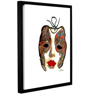 ArtWall Linda Parker 'Venetian Mask Ii' Gallery-wrapped Floater-framed Canvas