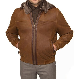 Tatto di Pelle Men's Bomber Shearling Jacket