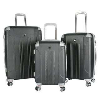 Traveler's Club Chicago 3-Piece Hardside Expandable Double-Spinner Luggage Set