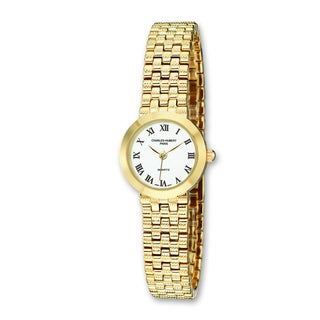 Versil Ladies Charles Hubert Satin Gold Finish Brass 25mm Watch