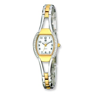Versil Charles Hubert Two-Tone Gold-finish White Dial Quartz Watch