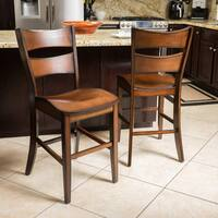 Tehama 25-inch Wood Counter Stools (Set of 2) by Christopher Knight Home