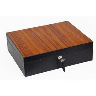 Brizard & Co Sunset Black & Zebrawood Airflow Humidor -