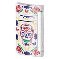 ST Dupont Dia De Los Muertos MiniJet Single Torch Flame Lighter - White