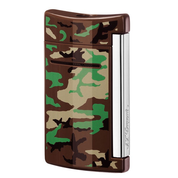 ST Dupont MiniJet Single Torch Flame Lighter - Brown Camouflage