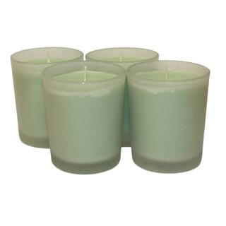 Handmade Cove House Candle Co, LLC. - 3oz Scented Light Green Soy Votives (Set of 4) (United States)