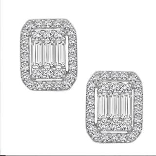 14k White Gold 1/2ct TDW Diamond Stud Earrings