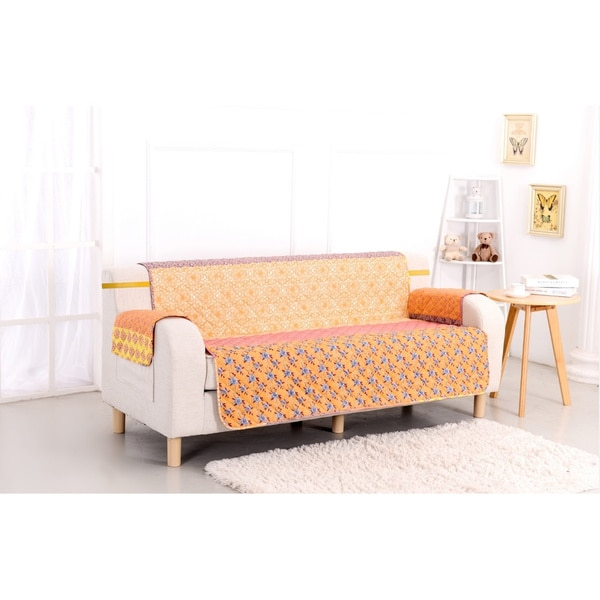 slumber shop escapade reversible printed sofa protector. Black Bedroom Furniture Sets. Home Design Ideas