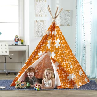 Merry Products Children's Teepee Orange Puzzle|https://ak1.ostkcdn.com/images/products/10596233/P17669492.jpg?impolicy=medium