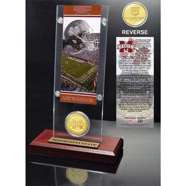 Mississippi State University Ticket and Bronze Coin Acrylic Desktop
