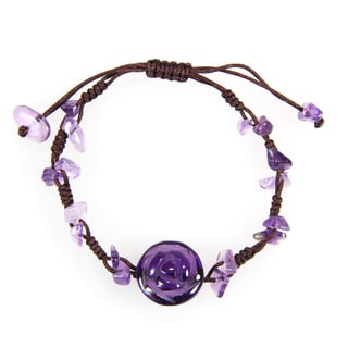 Handmade Amethyst Rose Bracelet (China)