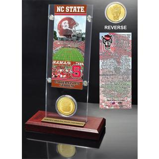 North Carolina State University Ticket and Bronze Coin Desk Top Acrylic