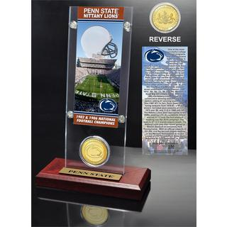 Penn State University 2- time National Champions Ticket and Bronze Coin Desk Top Acrylic