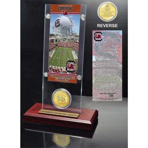 University of South Carolina Ticket and Bronze Coin Desk Top Acrylic